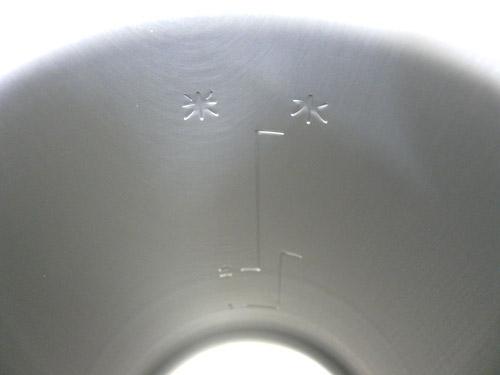 アルポット内鍋の目盛